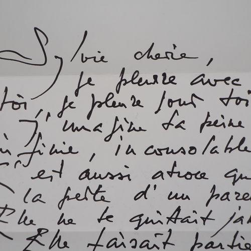 Georges MATHIEU Georges MATHIEU  Handwritten letter, 1993    Handwritten letter …