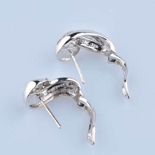Boucles d'oreilles en or blanc Boucles d'oreilles en or blanc 18 cts (750/1000) …