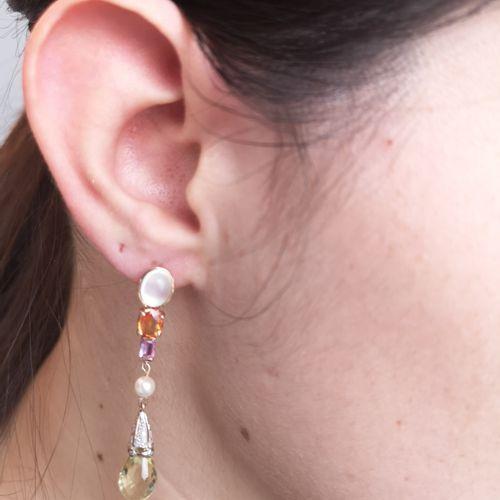 Paire de boucles d oreilles en or Paire de boucles d oreilles en or rose 18 cara…