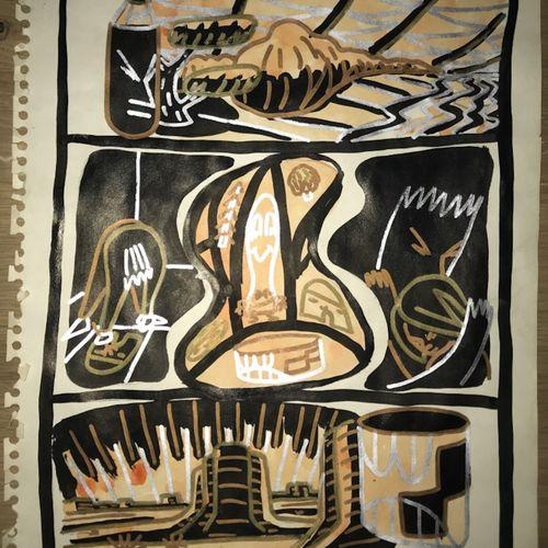 François BOISROND François BOISROND (1959 )  Untitled, 1983     gilded felt pen …