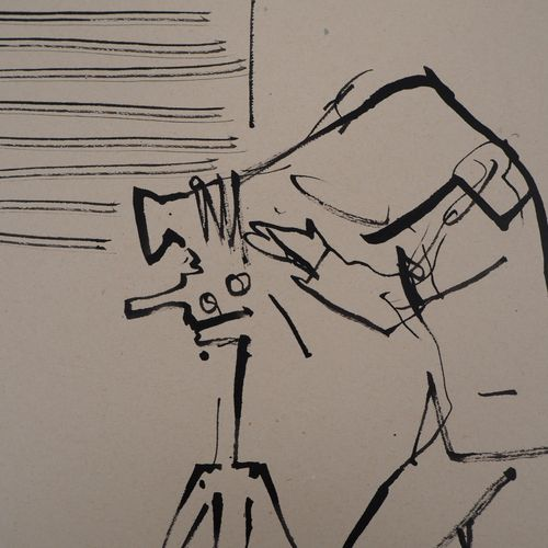 René GENIS René GENIS  The Photographer  Indian ink drawing on drawing paper  32…