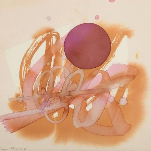 Luis FEITO FEITO, Luis (1929)   Composition, 1977  Watercolor on paper  Size : 2…