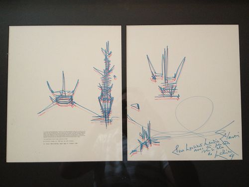 "Georges MATHIEU Georges MATHIEU (1921 2002)  ""Composition"", 1969     Drawing in …"