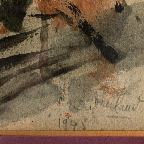 GRAHAM SUTHERLAND Graham SUTHERLAND (1903 1980)  Landscape, 1945  Watercolour  S…
