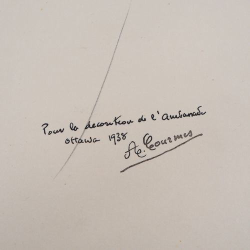 Alfred COURMES Alfred COURMES (1898 1993)  The tender look  Pencil drawing  Sign…