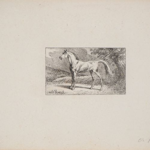Charles Antoine VERNET Charles Antoine VERNET  Sketches of Horses  Lot of five o…