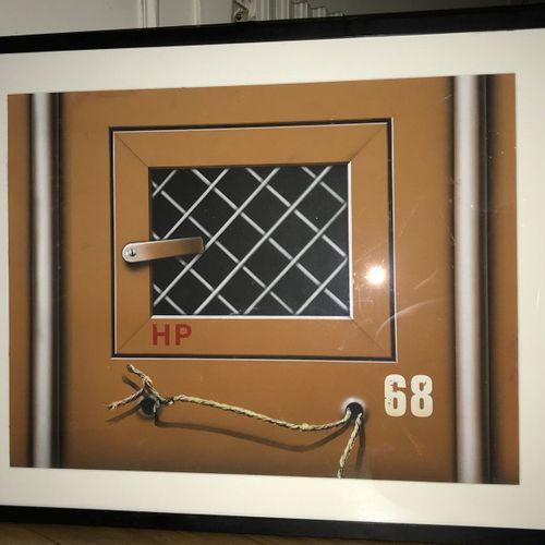 Peter Klasen Peter KLASEN (born 1935)  Container with wire mesh, 1979     Gouach…