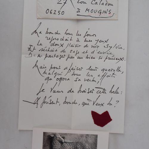 Georges MATHIEU Georges MATHIEU  Handwritten letter, 1993  Handwritten letter in…