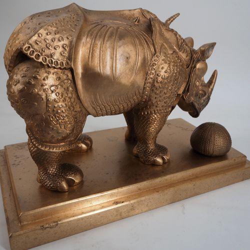 Salvador DALI Salvador Dali (1904 1989)  Rhinocéros habillé en dentelle  Sculptu…