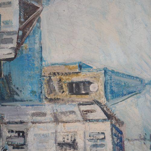 Robert SAVARY 罗伯特 萨瓦里  苏雷纳广场,约1965年  布面油画  右下方有签名  画布上 54 x 65 cm 正在观看  呈现在镀金木框中…