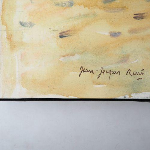 Jean Jacques RENE 让 雅克 雷内 (1943)  布隆维尔的夏天  布面油画  左下方有签名  格式15F或65 x 54厘米  背面有标题 …