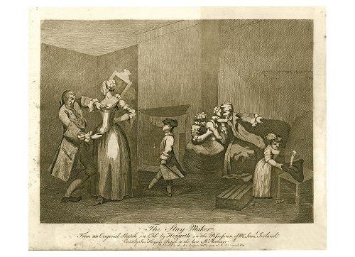 William HOGARTH 威廉 霍加斯(1697 1764)。(之后)  留下来的人  约瑟夫 海恩斯的雕刻作品,1782年。来自一幅油画草图。  W. …