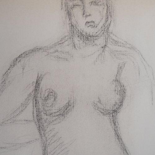 Aristide MAILLOL 阿里斯蒂德 马约尔(后)  女性裸体,1944年  绘画后的石版画  板块中的签名  牛皮纸上 28 x 20 厘米  状况非…