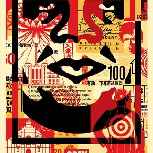 Shepard FAIREY Shepard Fairey (OBEY)   Obey 3 Face Collage     Impressions Offse…