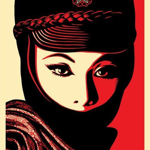 Shepard FAIREY Shepard Fairey (OBEY)  Mujer Fatal  Impression offset sur papier …