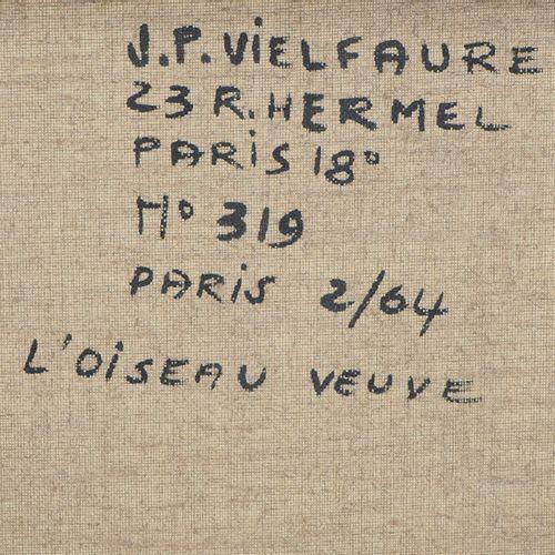 Jean Pierre VIELFAURE Jean Pierre VIELFAURE (1930 2015)  L'oiseau veuve  Huile s…