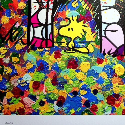 Death NYC Death NYC  Snoopy's kennel by Murakami, 2020  Sérigraphie originale  S…