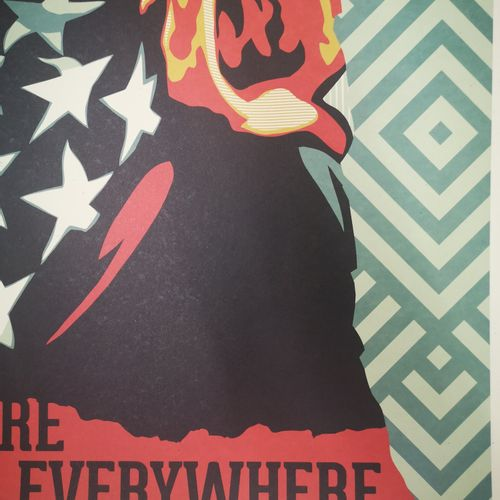Shepard FAIREY Shepard FAIREY (Obey)  American Rage  Impression offset sur papie…