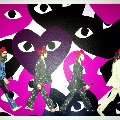 Death NYC Death NYC  The Beatles and Comme des Garçons hearts, 2020  Sérigraphie…