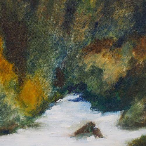 "Georges MANZANA PISSARRO 卡米耶 皮萨罗 伯纳德(被称为 ""基克特 皮萨罗"",1900 1989)。  激流  布面油画  右下方有签名…"