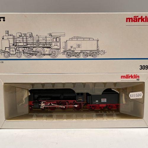MARKLIN, HO.DB型BR 38 230机车和招标,编号3098。全新的盒装。