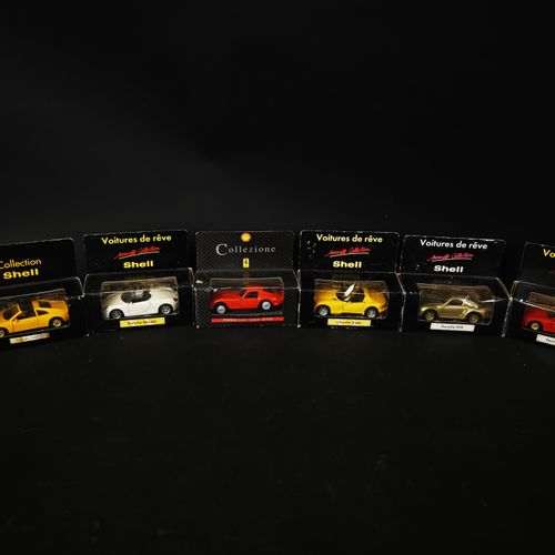 SHELL edition lot of 6 cars including PORSHE 959 and BOXSTER, Ferrari 456 GT and…