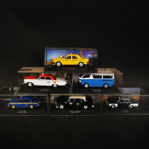 Lot of 6 cars including SIMCA 1000, FORD galaxie, LADA 1500...