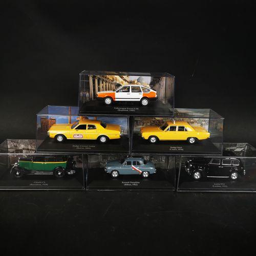 Lot of 6 cars including RENAULT dauphine, DOLGE DART...