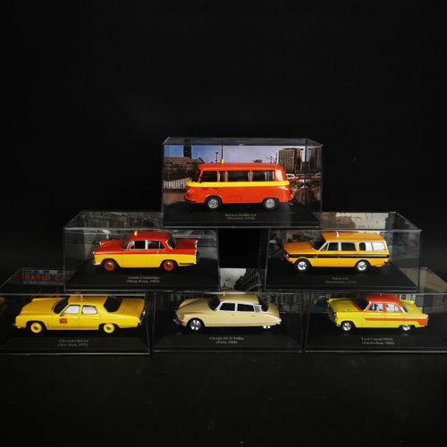 一批6辆汽车,包括BARKAS B1000KB, CITROEN DS21PALAS ...