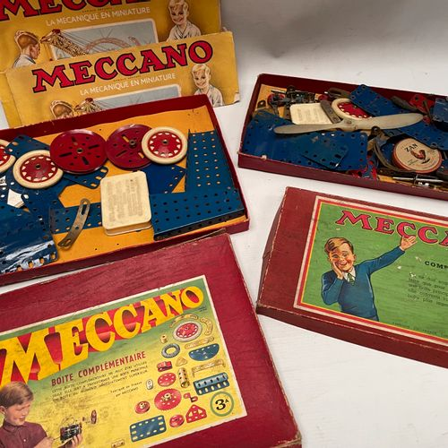 MECCANO. Two complementary boxes 3A and 2A. Damaged boxes.