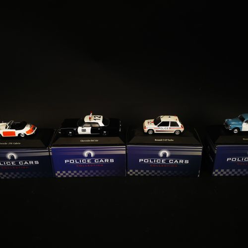 ATLAS editions lot of 4 police cars made in china 2005