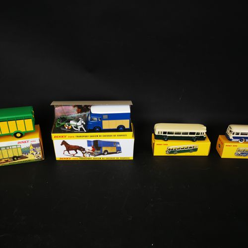 DINKI TOYS lot of 4 vehicles (including Parisian bus and Chausson coach, BERLIET…