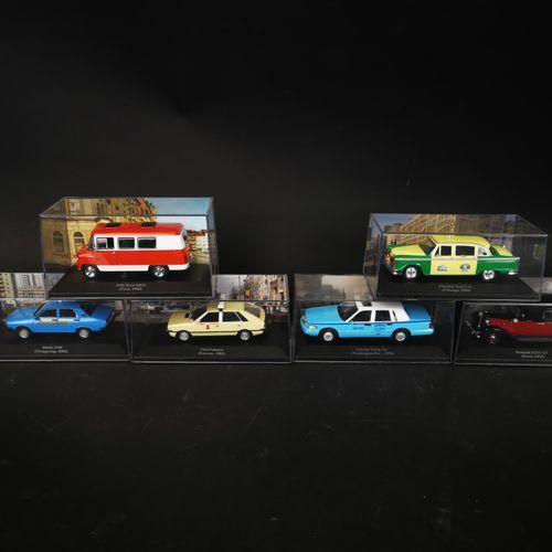 Lot of 6 cars including REUNAULT 15Z 11 GT, DACIA 1310, LINCOLN town car ...