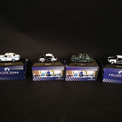 ATLAS editions lot of 4 police cars made in china 2015
