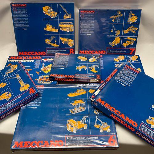 "MECCANO,一套七盒,包括2、3、4、5、6(泡壳)、7(泡壳)、8(泡壳)盒。它们中的大多数都处于非常好的一般状态,有其原始的说明。MECCANO的 ""机…"