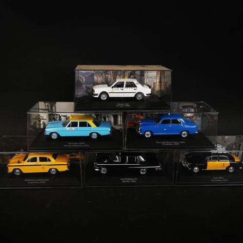 Lot de 6 voitures dont MERCEDES 200D et 180D, SEAT 1400A...