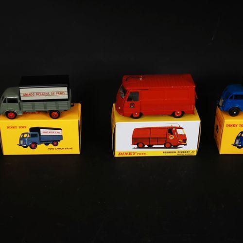 DINKI TOYS 一批5辆卡车(FORD卡车,PEUGEUT J7...),中国制造,2013年至2015年