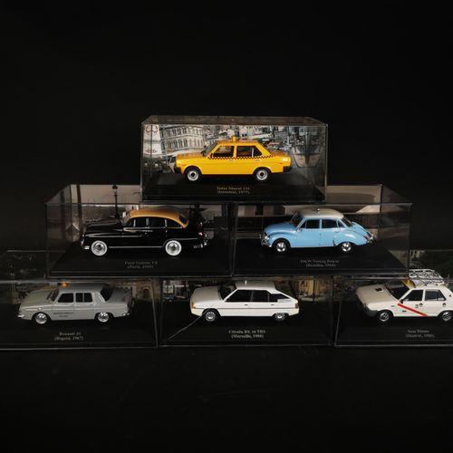 Lot of 6 cars including CITROEN BX 16 TRS, RENAULT 10...