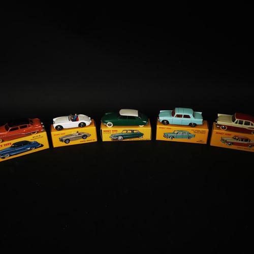 DINKI TOYS 一批5辆汽车(标致404, COITROEN DS 19, AUSTIN HEALEY 100...)中国制造2008