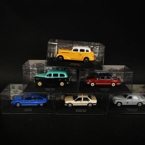 一批6辆汽车,包括雷诺colorale,欧宝REKORD 2.0 E和CITROEN CX...
