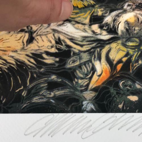 C215 C215  自由引导人民,2020年  数字印刷在康森纸上。  签名:C215  由艺术家签名、压印和盖章   100册上有编号     尺寸:40 …
