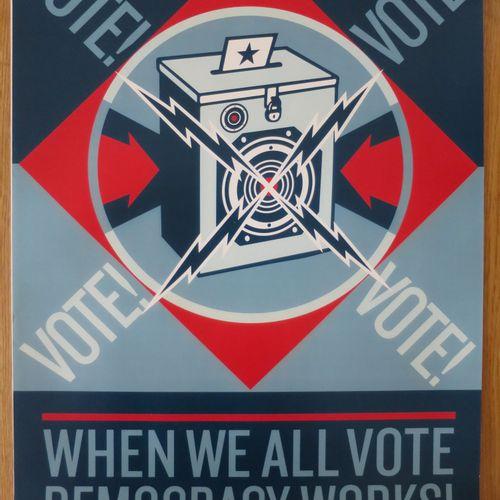 Shepard FAIREY Shepard FAIREY (Obey)  当我们都投票的时候,2020年  海报  板块中的签名   没有编号     尺寸:…