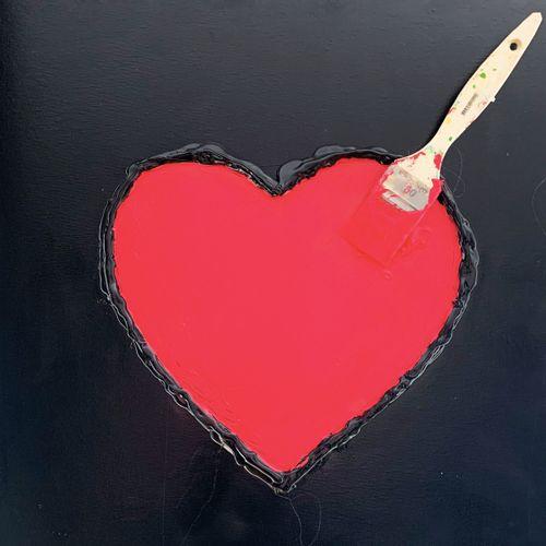 ROSE 蔷薇  刷爱,2021年     画布上的混合媒体   背面签名   50 x 50厘米    出售后,由于健康危机,不再可能向巴黎、第戎或格勒诺布尔…