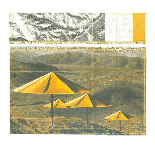 CHRISTO 克里斯托(1935 2020年  雨伞, 1991     在厚纸上印制   Achenbach版,199   尺寸:49 x 51 cm   …