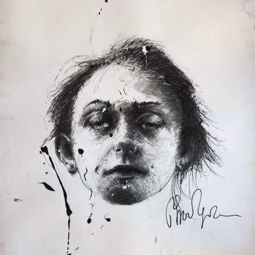 Philippe PASQUA 菲利普 帕斯夸  无题》,2010年  混合媒体:印刷品 丙烯酸,纸上墨水  由艺术家签名的作品  独特的作品  100 x 8…