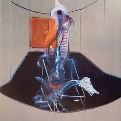 FRANCIS BACON Francis BACON (后)  肉类和鸟类的尸体,1986年  原始复古海报(Arte印刷厂  无符号  厚纸上78×45.5…