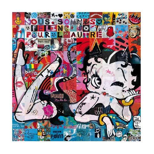 """ARY KP ARY KP 我们是彼此的 """"猫科动物""""。  海报采用170克现代哑光铜版纸  限量50份,由艺术家用毡尖笔签名和编号。  70 x 70厘米  …"""