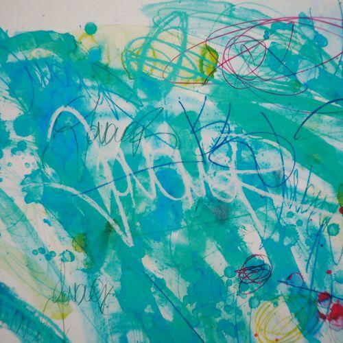 JONONE 乔恩一  运动中的诗歌, 2019  颜料打印  板块中的签名  合理的HC编号/25册  牛皮纸上 22 x 26 cm  由画廊的干燥印章(见…