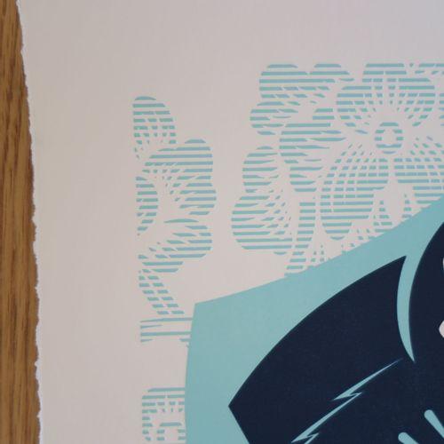 Shepard FAIREY Shepard Fairey (Obey)  尊重与正义》凸版印刷品,2016年  丝网印刷和凸版印刷  有签名,有日期,有编号。…