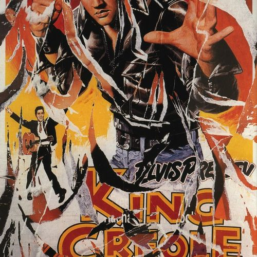 MIMMO Rotella Mimmo ROTELLA  克里奥尔国王   Mimmo Rotella手工制作的带眼泪的绢花拼贴画,来自1958年由Michae…